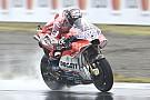 Dovizioso lidera sexta chuvosa no Japão; Márquez é 2º e cai