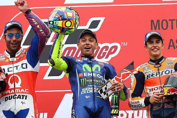 Assen MotoGP: Rossi beats Petrucci by 0.063s after epic duel