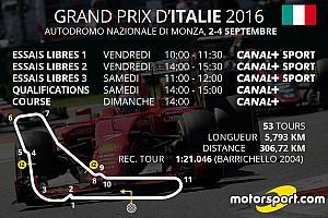 Formule 1 Actualités Le programme TV du Grand Prix d'Italie
