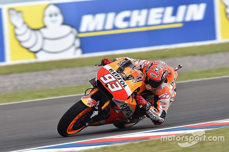 Argentina MotoGP: Marquez leads Honda 1-2 in second practice