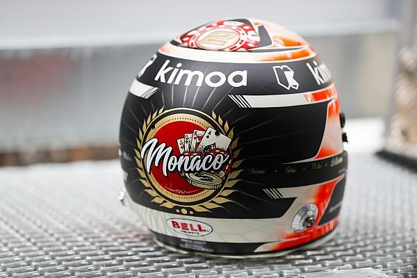 Stop/Go Livefeed Vandoorne monacói sisakja Alonso márkájában díszeleg
