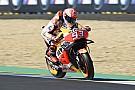 MotoGP Márquez sigue volando en el warm up de Le Mans; caída de Zarco