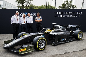 FIA F2 速報ニュース F2、来年から使用する新マシン『F2 2018』を発表。F1との類似点も