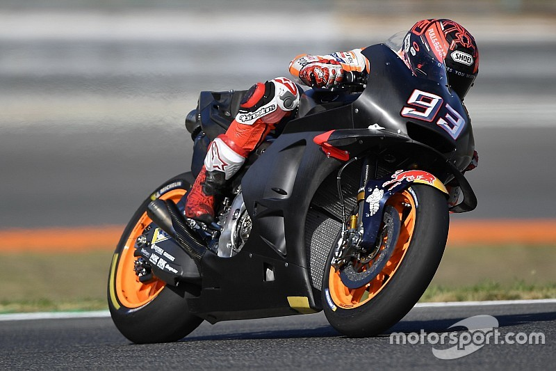 Márquez marca el mejor tiempo en el test de Brno