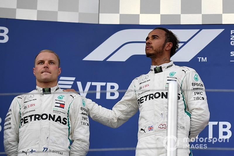 Menang team order, Hamilton: Saya paham ini sulit diterima Bottas