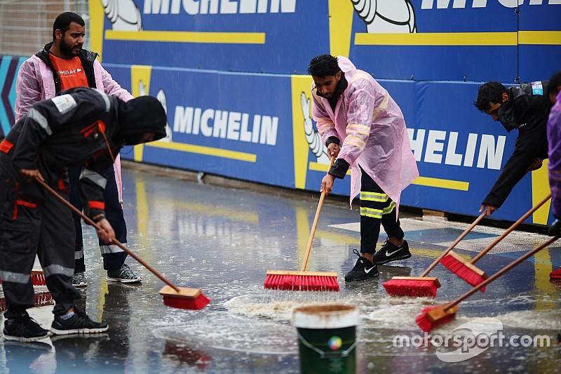 サウジアラビアに予想外の降雨。開幕戦のフリー走行1回目がキャンセルに