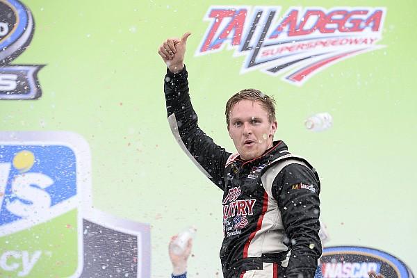 Parker Kligerman takes upset win in chaotic Talladega Truck race