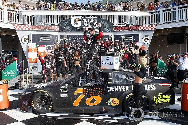 Труэкс выиграл гонку NASCAR в Уоткинс-Глене