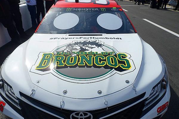 NASCAR Cup Breaking news D.J. Kennington and Gaunt Brothers honor Humboldt junior hockey team