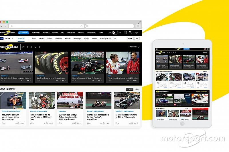 Motorsport.com ubah tampilan desain situs