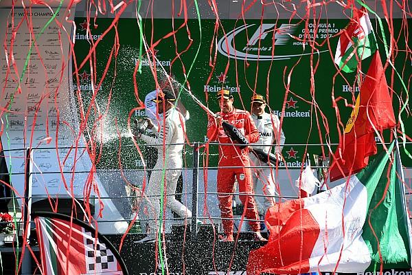 Fotoğrafın arkasındaki hikaye: Monza podyumunda konfetilerle kutlama