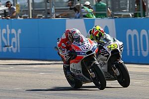 MotoGP Réactions Dovizioso en délicatesse avec son pneu arrière