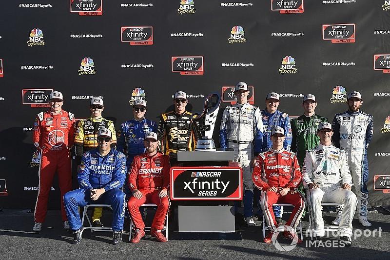 Anuncian a los 12 pilotos que correrán los playoffs de Serie Xfinity