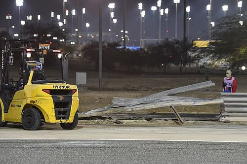 FIA modifies barrier hit by Grosjean in Bahrain