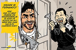 Cartoon van Cirebox - Alonso in 'The Shining'