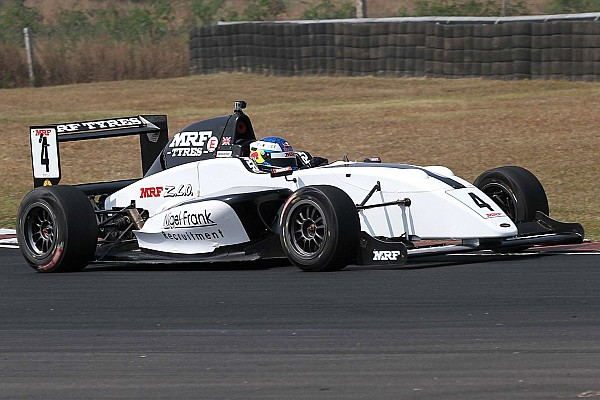 Indian Open Wheel Race report Chennai MRF Challenge: Newey wins Race 3 as Schumacher crashes out