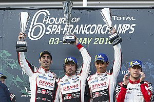 WEC Race report Spa WEC: Toyota takes 1-2, Alonso wins on debut
