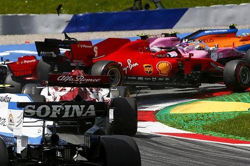 Los Ferrari abandonan el GP de Estiria tras choque entre ambos