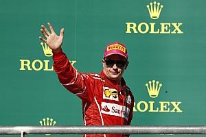 Räikkönen, aki napszemüvegben ünnepelt a dobogón…