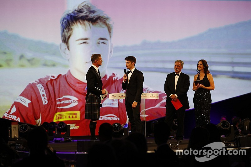 Leclerc, Debutante del Año en los Autosport Awards