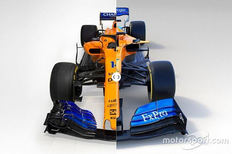 Vergleich Design Formel-1-Autos 2018 vs. 2019: McLaren