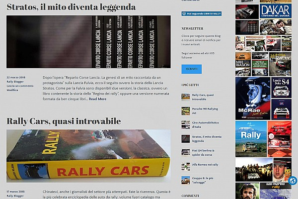 """Special projects Ultime notizie """"Libri di Rally"""", la memoria di uno sport in un blog"""