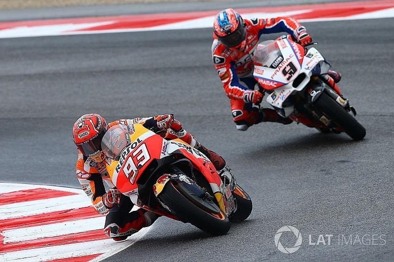 Márquez supera Petrucci na última volta e vence em Misano