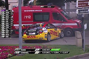 WTCC Breaking news FIA investigating Vila Real after Coronel fire van crash