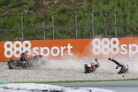 Fotos: la accidentada carrera de MotoGP en Barcelona