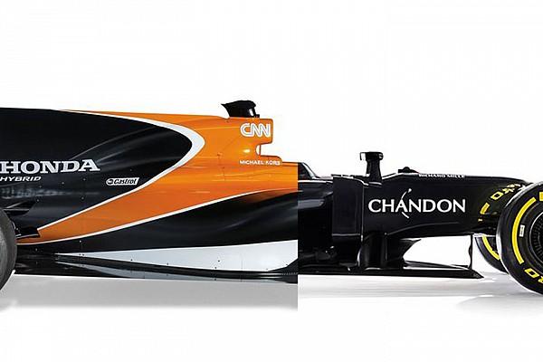 Fórmula 1 Top List Compare modelos da McLaren de 2016 e 2017