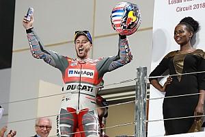 """MotoGP Declaraciones Dovizioso: """"Márquez debió de hacer algo irreal para aguantar conmigo hasta el final"""""""