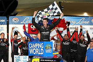 NASCAR Truck Race report Ben Rhodes claims first Truck win in thrilling finish at Las Vegas