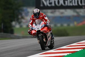 MotoGP Отчет о тренировке Довициозо показал лучшее время во второй тренировке в Шпильберге