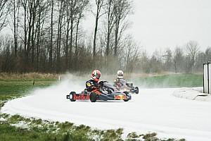 Video: Verstappen ve Gasly'nin buz üstündeki karting savaşı