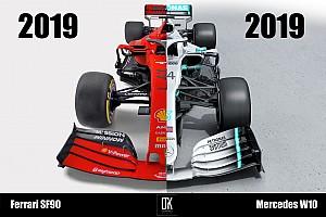 Karşılaştırma: Ferrari SF90 ve Mercedes W10