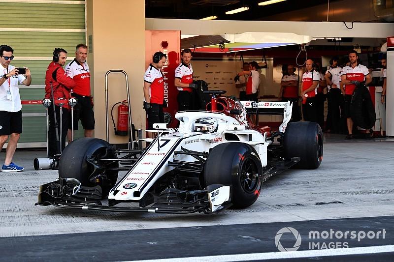 Raikkonen completó sus primeras vueltas con Sauber en Abu Dhabi