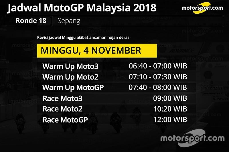 Antisipasi hujan, jadwal MotoGP Malaysia dimajukan