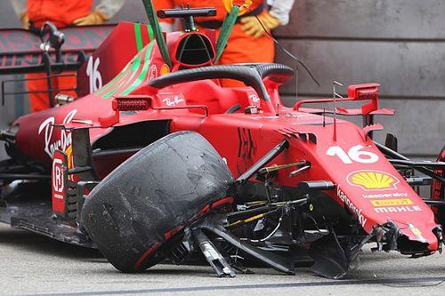 Ferrari sospecha que el problema de Leclerc no fue por el choque