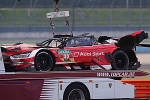 DTM Breaking news Rast under observation in hospital after huge crash