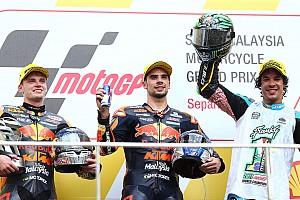 Moto2 Résumé de course Oliveira et KTM enchaînent, Morbidelli savoure son titre !