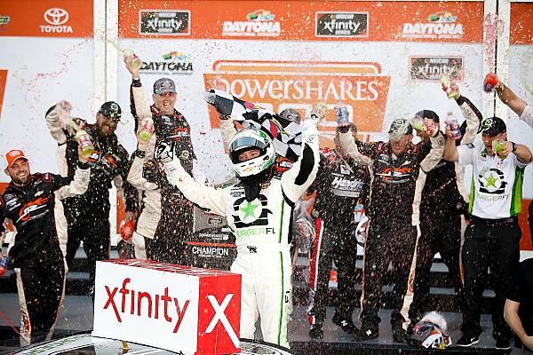 Reddick wins Xfinity Daytona opener after five overtime restarts