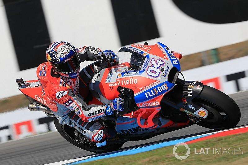 Red Bull Ring, Libere 1: Dovizioso guida la tripletta Ducati, Rossi resta fuori dalla top 10