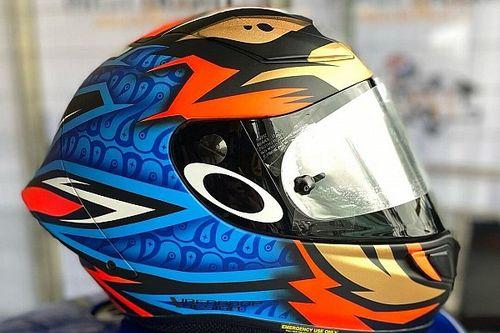 Helm Anyar Dimas Ekky Dibalut Livery Batik