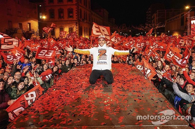Fotogallery: Marc Marquez festeggia il settimo Mondiale nella sua Cervera