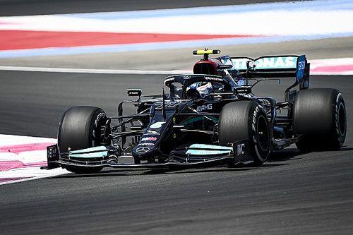 Bottas lidera 1-2 de Mercedes en la FP1 de Francia y Pérez es 4°