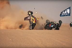 Жесткая авария прямо перед финишем этапа Africa Eco Race: видео