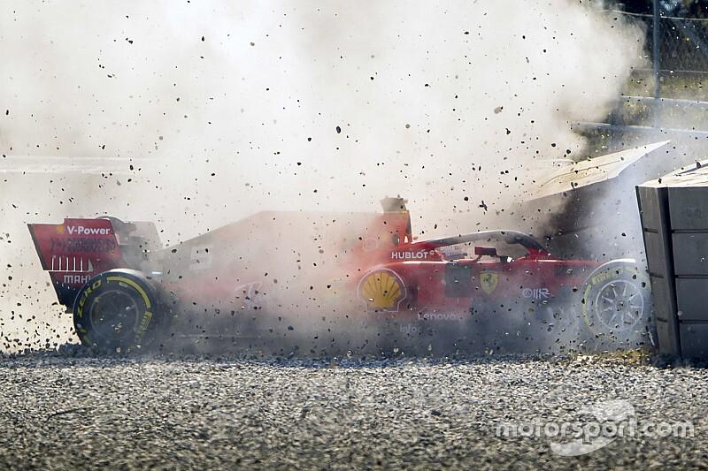 Ferrari blijft eigenaardige crash Vettel onderzoeken