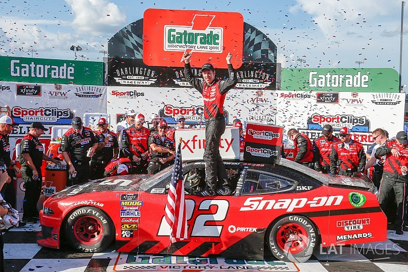 Brad Keselowski takes win in wild Xfinity race at Darlington