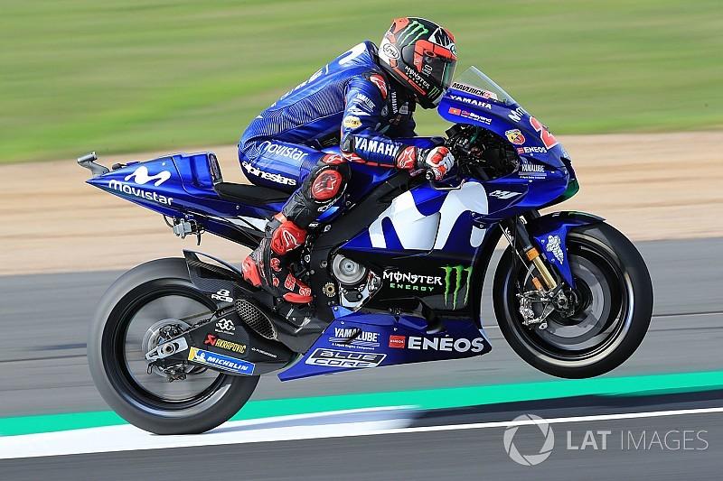 Silverstone MotoGP: Vinales leads Rossi in first practice
