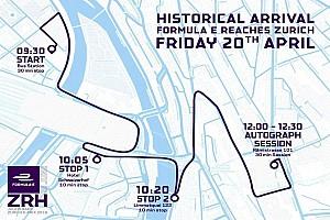 Formule E Preview Sébastien Buemi dans les rues de Zürich le 20 avril pour un Road Show !